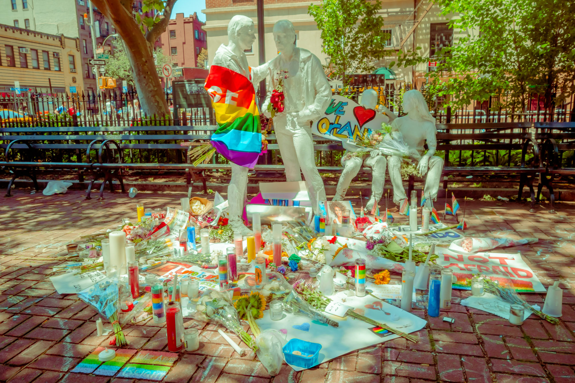 An Orlando memorial near Pulse to the 49 people killed and 53 wounded in Omar Mateen's 2016 attack. Photo © Pablo Hidalgo | Dreamstime.com