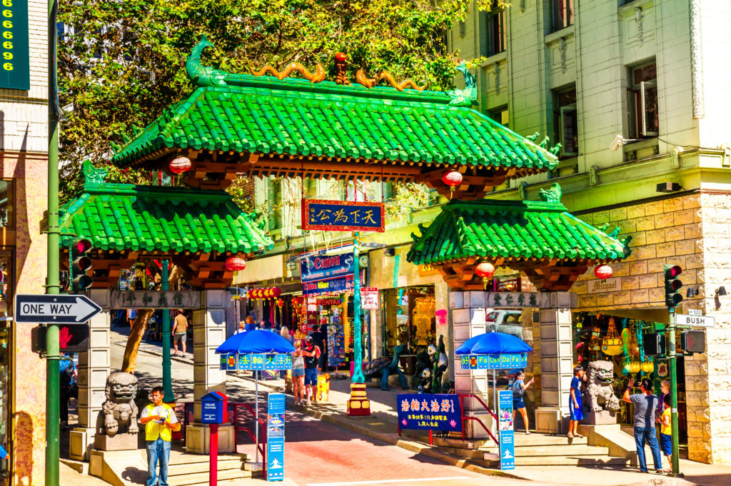 Dragons Gate on Grant Avenue at Bush Street in Chinatown. The oldest Chinatown in North America and the largest Chinese community outside Asia. © Michaelurmann | Dreamstime.com