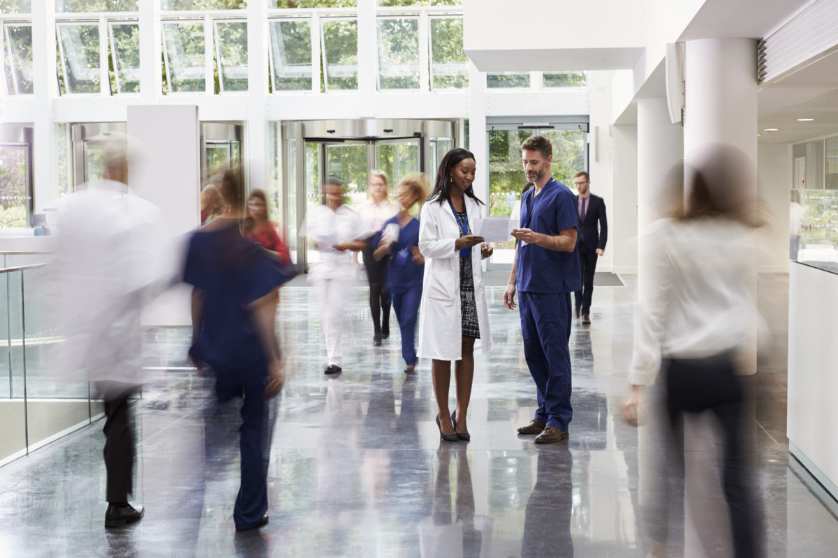 Hospitals have multiple points of entry and any number of people walk in and out, unobserved, through the day. It's important to assess threat potential, in real-time, when it matters. Photo © Monkey Business Images | Dreamstime.com