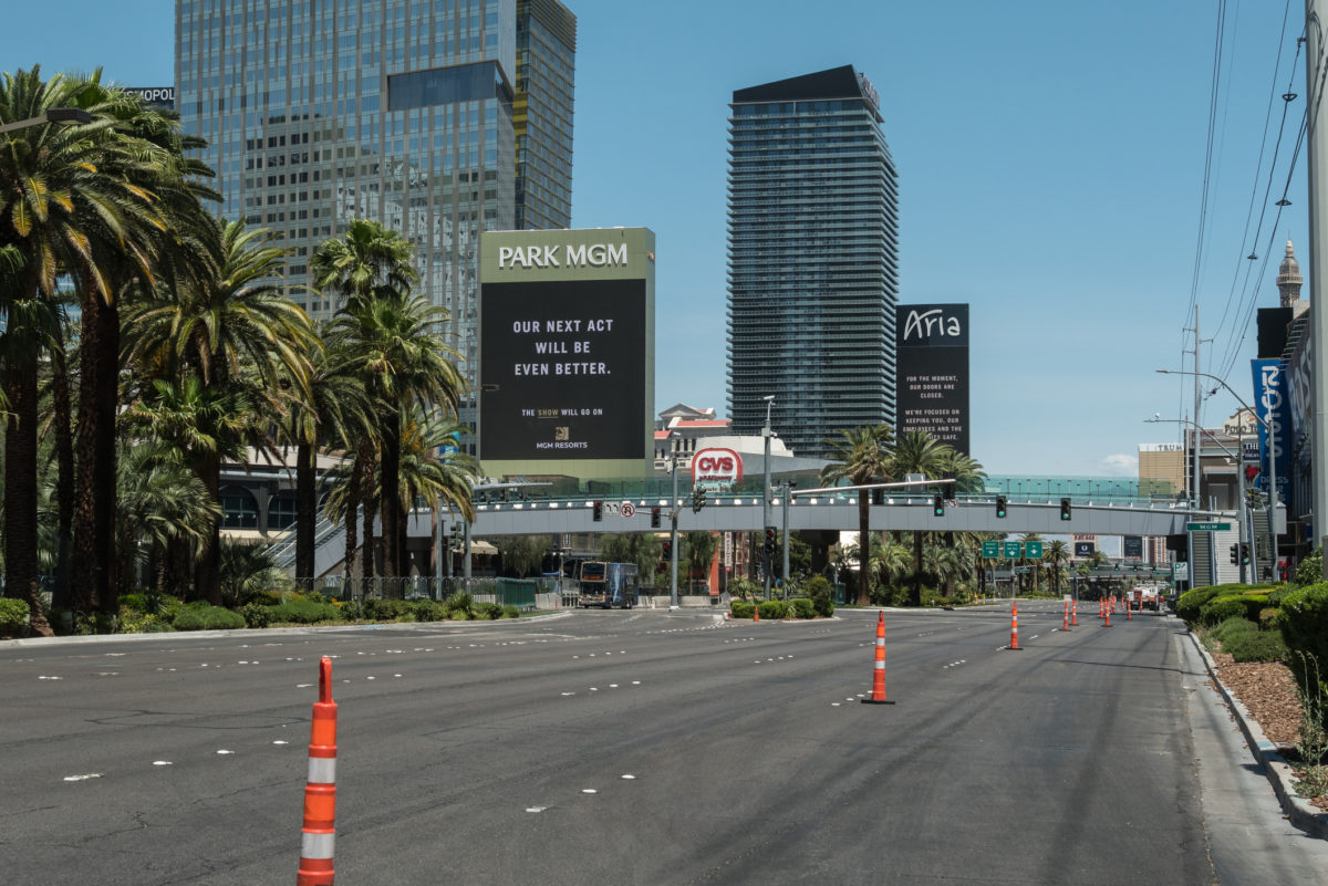The Las Vegas Strip during shutdown after covid-19 struck © Larry Gevert | Dreamstime.com