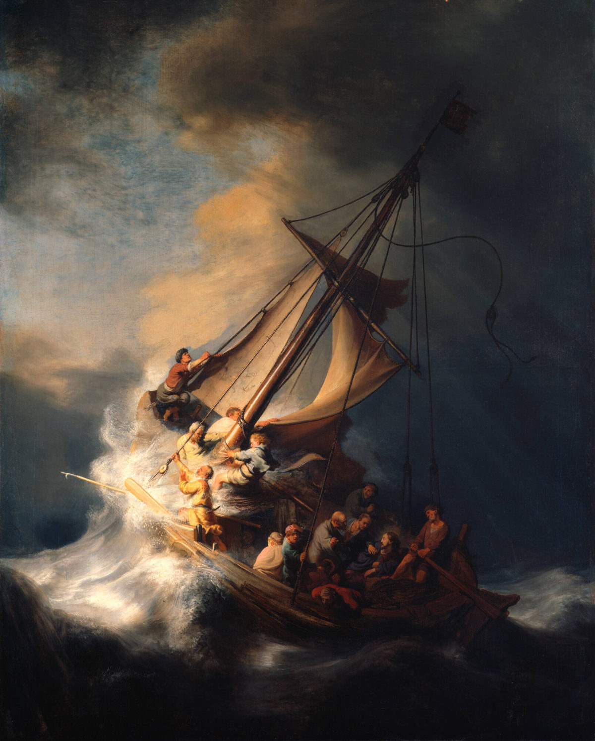 Photo of Dutch artist Rembrandt's Christ in the storm on the sea of Galilee, one of the more important works of stolen art from the 1990 Boston museum heist | Photo downloaded from the Isabella Stewart Gardner museum website